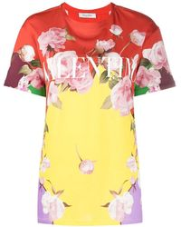 Valentino T-shirts And Polos Yellow - Multicolor