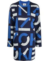 KENZO All-over Logo Dress - Blue