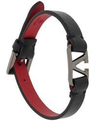 Valentino Garavani Vlogo Buckle Bracelet - Black