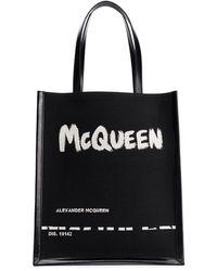 Alexander McQueen - Borsa Tote Graffiti - Lyst