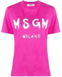 MSGM T-shirt Logo - Pink