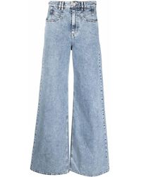 Isabel Marant Jeans a gamba ampia - Blu