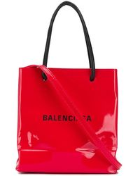 Balenciaga Borsa Mini Tote Con Tracolla - Rosso
