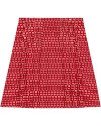 Gucci Daisy Jacquard Mini Skirt - Red