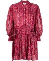 Étoile Isabel Marant - Anaco Drawstring-waist Dress - Lyst