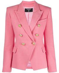 Balmain Giacca 6 Bottoni - Pink