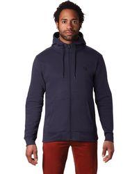 Mountain Hardwear Hardwear Logo Full Zip Hoody - Blue