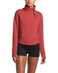 The North Face Motivation Fleece Mock Neck Pullover - Red