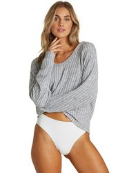 Billabong Cozy Up Hooded Top - Gray