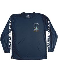 Salty Crew Tailed Tech Ls Tee - Blue