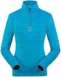 Spyder Shimmer Bug Zip T-neck Top - Blue