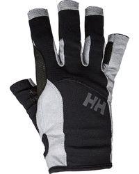 Helly Hansen Men's Durable Short Finger Sailing Gloves | Black