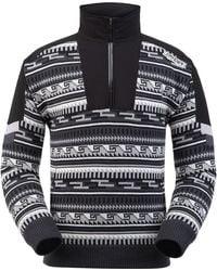 Spyder Legacy Gtx Infinium Lined Half Zip Sweater - Black
