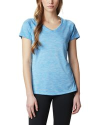 Columbia Zero Rules Ss Shirt - Blue