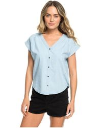 Roxy - Feel The Bronx Chambray Button Up Top - Lyst