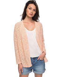 5011d93c90b Lyst - Roxy Juniors Take Stock Cardigan Sweater