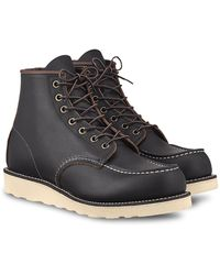 """Red Wing 6"""" Moc Toe Boot - Black"""