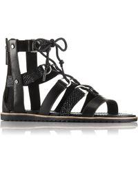 Sorel Ella Lace Up Sandals - Black