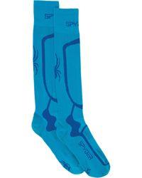 Spyder Pro Liner Sock - Blue