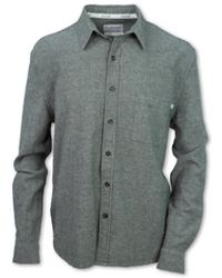 Purnell Flax Chambray Button Up Ls Shirt - Green