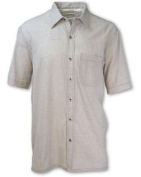 Purnell Microcheck Madras Shirt - White
