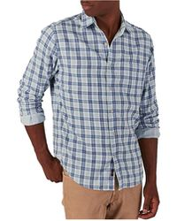 Faherty Brand Doublecloth Venture Shirt - Blue