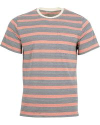 United By Blue Striped Pocket Tee - White