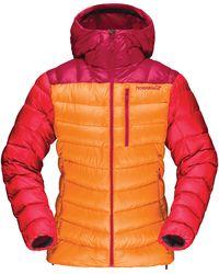 Norrøna Lyngen Down 850 Hooded Jacket - Orange