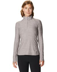 Mountain Hardwear Ghee Ls 1/4 Zip Top - Gray