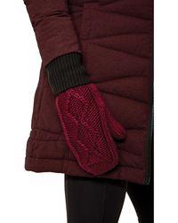 Lolë Chunky Knitwear Mitten - Red