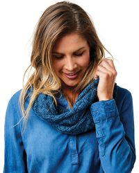 Carve Designs Walsh Infinity Scarf - Blue
