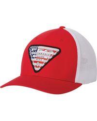 Columbia Pfg Mesh Stateside Ball Cap - Red