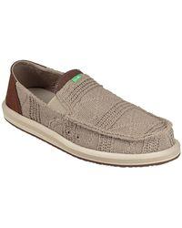 Sanuk Pick Pocket Knit Shoe - Brown