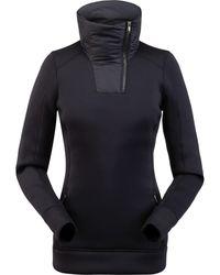 Spyder Monde Zip T-neck Top - Black
