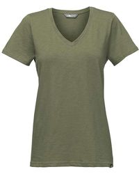 The North Face - Sand Scape V-neck Ss Tee - Lyst