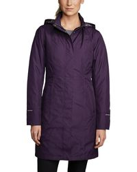 Eddie Bauer Girl On The Go Insulated Trench - Purple