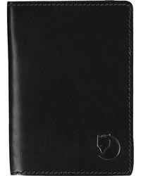 Fjallraven Leather Passport Cover - Black