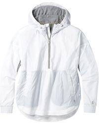 Smartwool Merino Sport Ultra Light Anorak Pullover - White