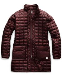 The North Face Thermoball Eco Long Jacket - Red
