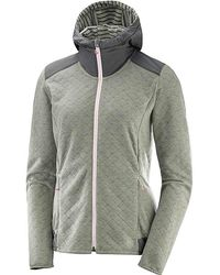 Yves Salomon - Elevate Full Zip Midlayer Hoodie - Lyst
