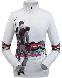 Spyder Moda Zip T-neck Top - White