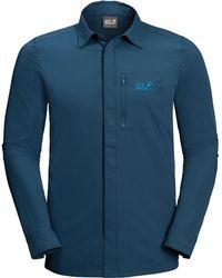 Jack Wolfskin Hilltop Trail Shirt - Blue