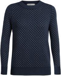 Icebreaker Waypoint Crewe Sweater - Blue