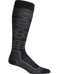 Icebreaker Ski+ Ultralight Over The Calf Crystalline Sock - Black
