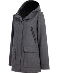 Woolrich Seasons Change Hooded Coat - Gray