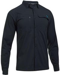 Under Armour - Ua Fish Hunter Ls Solid Shirt - Lyst