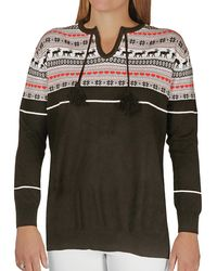 Hot Chillys Sweater Knit Top - Multicolor