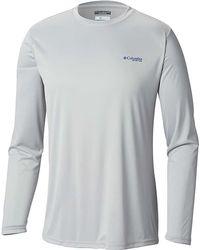 bee8da45100 Lyst - Columbia Terminal Pfg Triangle Ii Camo Long Sleeve Shirt in ...