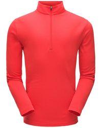 Spyder Ace Zip T Neck Top - Red
