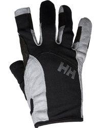 Helly Hansen Men's Durable Long Finger Sailing Gloves | Black
